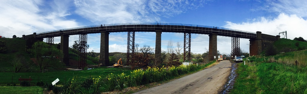 Back Creek Taradale Rail Bridge Scaffolding Project Completion